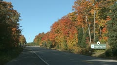 Fall Colors Highway - stock footage