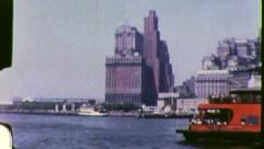 FERRY TO GOVERNOR'S ISLAND New York City 1960s Vintage Film Home Movie 3049 Stock Footage