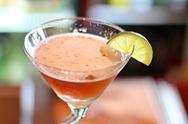 Basil and lime martini Stock Photos