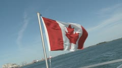 Canadian Flag in the wind - stock footage