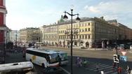 Nevsky Street near the Gostiny Dvor, St. Petersburg, Russia Stock Footage