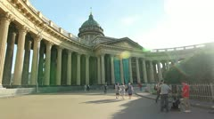 PAN: Kazan Cathedral, St. Petersburg, Russia Stock Footage