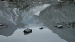 Glacial Pond Reflections at Worthington Glacier Stock Footage