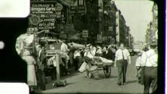 GREAT DEPRESSION Lower East Side NYC New York 1930s Vintage Film Home Movie 3029 Stock Footage