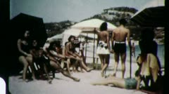 At the Beach MEXICO Acapulco 1960 (Vintage Old Film Home Movie Footage) 3019 - stock footage