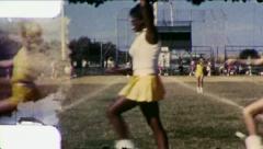 MAJORETTE PRACTICE Black African American Girl 1960 Vintage Film Home Movie 3015 Stock Footage