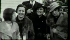 DEPRESSION ERA Girlfriends Employees 1930s Vintage Film Home Movie 3012 Stock Footage
