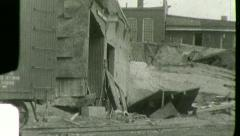 FLOOD DISASTER Ruined Earthquake Wreckage 1930s Vintage Film Home Movie 3007 Stock Footage