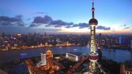 Stock Video Footage of Shanghai from day to night