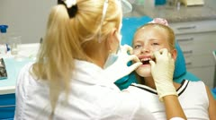Medical Treatment at the Orthodontist Office Stock Footage