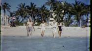Stock Video Footage of FRIENDS BEACH VACATION 1960 (Vintage Old Film Home Movie Footage) 3001