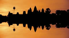 Sunrise at Angkor Wat Stock Footage