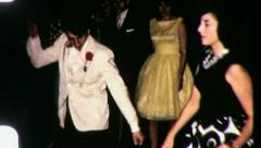 People Dance  PROM KING AND QUEEN Teen Party 1960s Vintage Film Home Movie 3094 Stock Footage