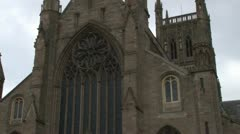 Worcester Cathedral Exterior Stock Footage