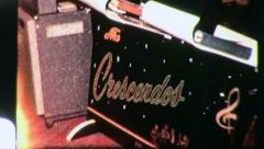 THE CRESCENDOS Amp Teen Rock and Roll Band 1950s Vintage Film Home Movie 3121 Stock Footage