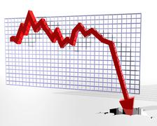 chart showing bad things - stock illustration