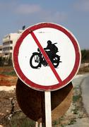 no motorcycles - stock photo