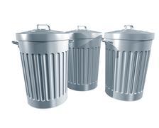 Trashcans Stock Illustration