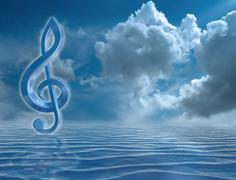 Stock Illustration of blue treble clef