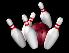Ten pin bowling Stock Illustration