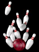 Bowling strike Stock Illustration