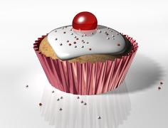 yummy cupcake - stock illustration