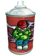 Graffiti art aerosol can Stock Illustration