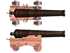 Isolated ships cannon Stock Illustration