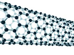 Stock Illustration of detail of a carbon nanotube
