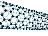 Stock Illustration of detail of a carbon nanotube