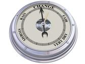Barometer indicating change Stock Illustration