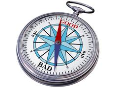 moral compass - stock illustration