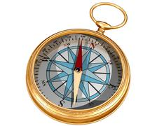 Isolated compass Stock Illustration