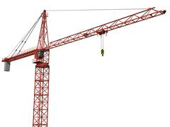 Isolated crane Stock Illustration