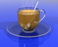 Stock Illustration of refreshing cup of tea
