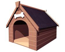 The doghouse isolated Stock Illustration
