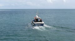 Commerical Fishing Boat - stock footage