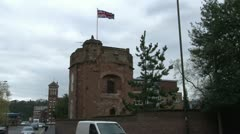Kidderminster Castle and Flag Stock Footage
