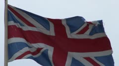 British Flag of Union Stock Footage