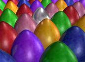 Army of brightly colored eggs Stock Illustration