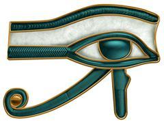 Egyptian eye of horus Stock Illustration