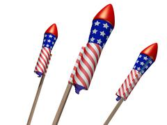 fireworks - stock illustration