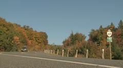Stock Video Footage of Fall Colors Highway