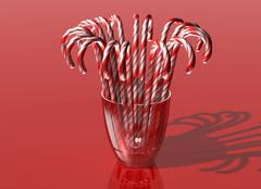 Glass of candy canes Stock Illustration