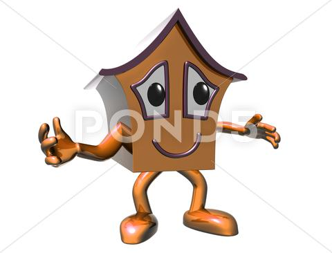 Stock Illustration of happy house