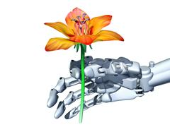Romantic robot Stock Illustration