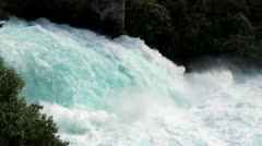 New Zealand North Island slow motion waterfall - stock footage