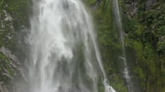 Tracking shot following a waterfall up and down Stock Footage