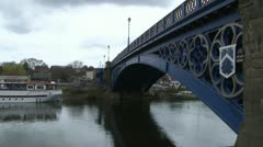 Stourport Iron Bridge Stock Footage