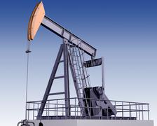 oil rig - stock illustration